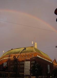 ヘルシンキで見た虹
