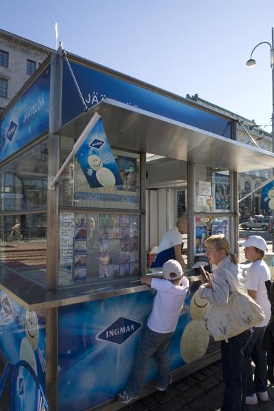 子供も大好き!アイスクリームスタンド