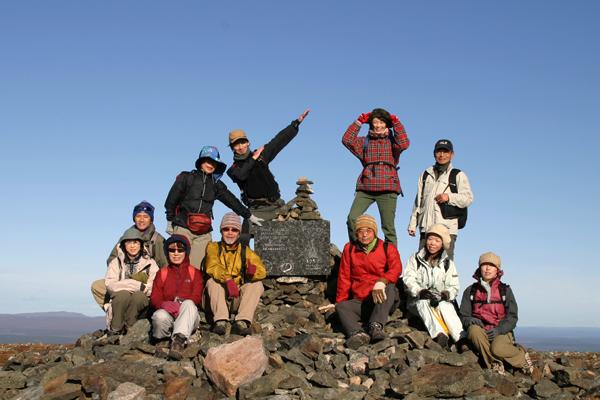 タイヴァスケロ最高峰でハイ!ポーズ