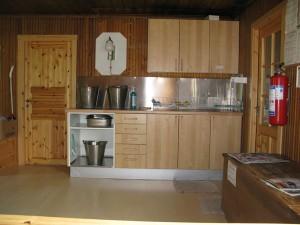 ガス燈を備えたキッチン
