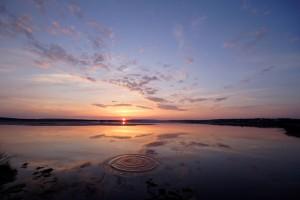 イェリス湖畔から眺める夕陽、きゃ?ロマンチック