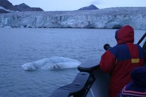 海に流れ込む氷河