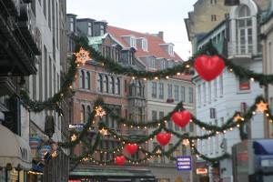 コペンハーゲンのストロイエの飾りつけ