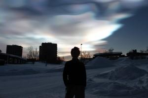 真珠母雲を見ながらたそがれてしまいました!