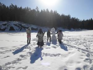 ヌークシオ国立公園で氷った湖の上を歩いちゃいました