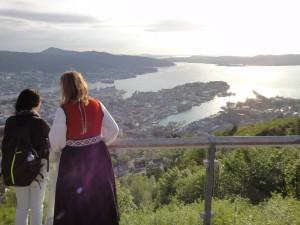 フロイエン山からのベルゲンの眺望