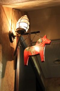 ダーラナホースの看板のレストラン・リラダーラナ