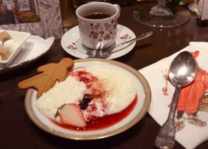 デザートのミルク粥