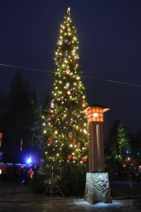 サンタクロース村。夜の方がイルミネーションが輝き雰囲気満点!